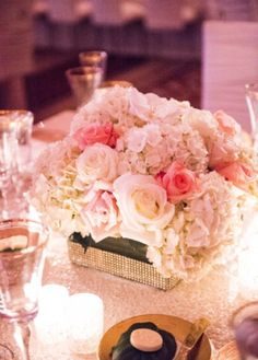 Omni William Penn | The Event Group Weddings candle light wedding with gorgeous whites, ivories and blushes