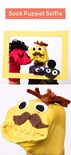 Make these sock puppets in this family activity Christmas Activities, Family Activities, Sock Puppets, Good Poses, Kids Bedroom, Bedroom Ideas, Upcycled Crafts, Christmas Cards, How To Memorize Things