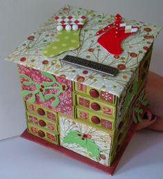 The Messy Crafter: Matchbox Advent Calendar and Instructions
