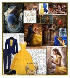 """""""A Tale As Old As Time - Beauty and the Beast"""" by demolition-vampire ❤ liked on Polyvore featuring Emma Watson, Disney, Lumière, River Island, Paul Smith, Stacy Adams, Dolce&Gabbana and Brooks Brothers"""
