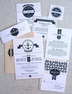 Anchor wedding invitation nautical weddings by mydearpaperie, $3.70