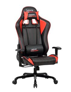 #American Turismo Racing Sovrano Series Gaming Chair Black and Red Ergonomic Gaming Bucket Lumbar Support Executive Computer