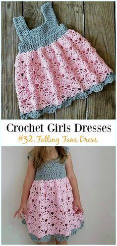 Falling Fans Dress Crochet Free Pattern - Girl  Dress Free  Crochet  Patterns Frivirkning 96c07286fdf37