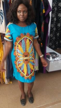Unique Hand beaded knee length dress worn by our happy customer @oscclothing @oscsignaturefashion