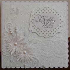 Spellbinders card white on white