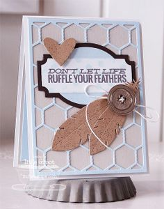 Document It - Right on Target; Distressed Background Blocks; Accent It - Feathers and Arrows Die-namics; Chicken Wire Die-namics; Layered Label Die-namics; Hearts a Plenty Die-namics - Inge Groot