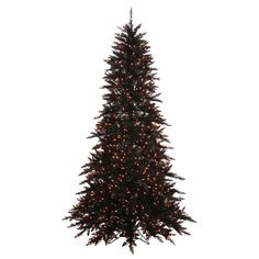 Vickerman 65' Black Fir Artificial Christmas Tree with 600 Orange Lights -- You can get more details by clicking on the image. (This is an affiliate link) #UsefulHomeDecor