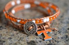 University of Tennessee Double Wrap Bracelet by Runwraps Tennessee Football, Alabama Football, American Football, College Football, Tn Vols, Tennessee Girls, University Of Tennessee, State University, Tennessee Volunteers