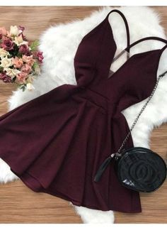 Hot Sexy Homecoming Dresses, Short Homecoming Dresses, Open Back Homecoming Dresses, V-neck Homecoming Dresses - Party Dresses and Party Outfits Sexy Homecoming Dresses, Hoco Dresses, Pretty Dresses, Dress Outfits, Casual Dresses, Evening Dresses, Dress Ootd, Skater Dresses, Elegant Dresses