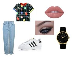 """""""lazy oaf"""" by bxckygrxxne on Polyvore featuring Topshop, Lazy Oaf, adidas and Lime Crime"""