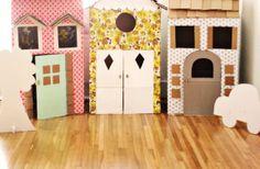 DIY Playhouses cartón