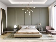New Home Interior Modern Classic Ideas Modern Classic Bedroom, Modern Classic Interior, Classic Home Decor, Luxury Home Decor, Neoclassical Interior, Classic Ceiling, Home Decor Bedroom, Bedroom Furniture, Furniture Nyc
