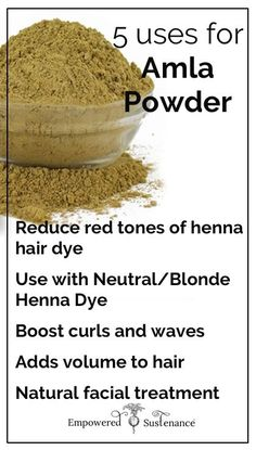 How to use amla powder for hair and skin - a cheap and fabulous DIY treatment! nach blondierung How to use amla powder for hair and skin - a cheap and fabulous DIY treatment! Henna Hair Color, Henna Hair Dyes, Dyed Hair, Henna For Hair, Hindi Video, Ayurvedic Herbs, Ayurveda, Amla Powder Hair, Natural Hair Care