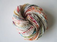 Handspun Yarn 'Confetti' Art Yarn Multicoloured
