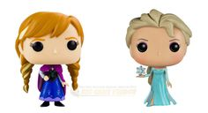 From Disney's comedy adventure Frozen comes the famous sisters Anna and Elsa! Now you can bring the epic journey to your home or office! A must have duo for all Frozen fans! Check out the other Frozen figures from Funko! #funko #vinyl #frozensisters #frozen #collectibles #toy