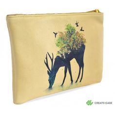 Create and case desktop clutch bag with watering hole theme