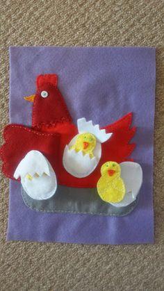 hen qith chicks quiet book page