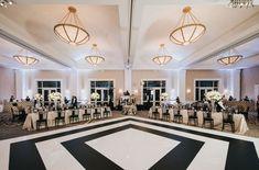 Black and White Stripe Custom Wedding Dance Floor Luxe Wedding, Dallas Wedding, Wedding Day, Dance Floor Wedding, Striped Wedding, Fort Worth Wedding, Cherry Blossom Tree, Wedding Planning, Reception