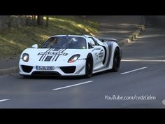 918 Spyder on the Road Driving