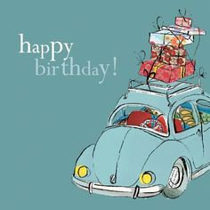 Happy birthday Volkswagon beetle - Happy Birthday Greetings  IMAGES, GIF, ANIMATED GIF, WALLPAPER, STICKER FOR WHATSAPP & FACEBOOK