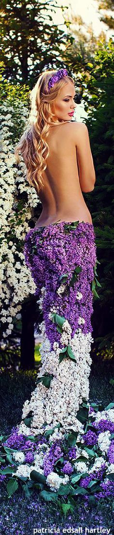Flowers, purple and white lilacs fashion❥ ✿ ❥ ✿ ❥ ✿ ❥ ✿ ❥ ✿ ❥