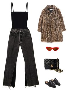 """Untitled #1171"" by nia-tanra ❤ liked on Polyvore featuring T By Alexander Wang, Topshop, Hope, Yves Saint Laurent and Chanel"
