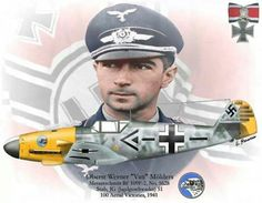Hauptmann Werner Molders - Considered undisputed professional and… Luftwaffe, Air Fighter, Fighter Pilot, Ww2 Aircraft, Fighter Aircraft, Military Jets, Military Aircraft, Nose Art, Photo Avion