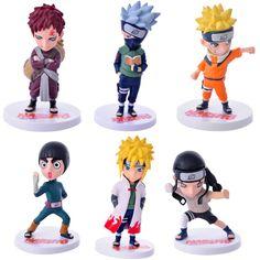 2016 NARUTO 6Pcs/Lot Anime Action Toy Uzumaki Naruto/Hatake Kakashi Figures Toys for Children Adult Kids Birthday Christmas Gift //Price: $US $19.96 & FREE Shipping //     #toyz24