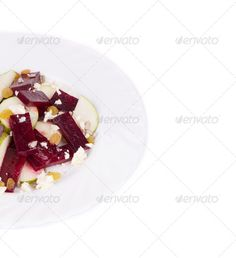 Beet salad with pear and feta cheese. ...  agriculture, background, break, cheese, color, delicious, dessert, diet, dried, feta, food, fresh, freshness, fruit, gold, grape, green, group, health, healthy, isolated, juicy, leaf, lunch, milky, natural, nature, nobody, nutrition, object, organic, pear, raisin, raw, red, ripe, salad, seed, sliced, snack, stem, studio, summer, sunflower, tasty, vegetable, vitamin, white, yellow
