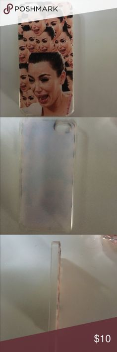 Kim Kardashian crying face case A couple of scuff marks, but very protective. Accessories Phone Cases