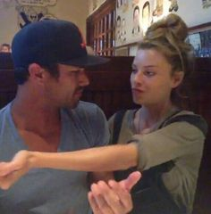 """Taylor Kinney & Lauren German Lauren: """"How about that hug?"""" Taylor: """"What the heck, really?"""""""