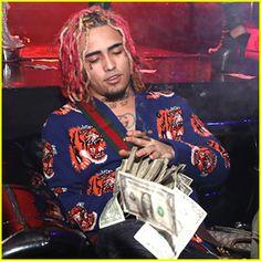 Lil Pump Throws Dollar Bills Around at His Birthday Party