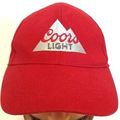 COORS LIGHT adjustable Fit Baseball Cap Hat #CoorsLight #BaseballCap