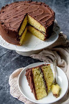 Fluffy Classic Yellow Cake Recipe- Baker Bettie