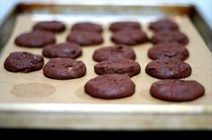 Cocoa Powder Cookies.. Photo by wannabe runway model.  These are good and simple to make.  I just made them and added a few chocolate chips and chopped walnuts to the recipe.
