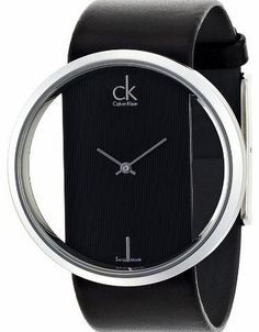 This Calvin Klein watch is a stunning contemporary piece in black. The  watch centres on 557bdd2a6cfc4