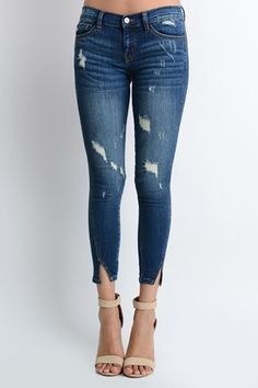 Harley Split Ankle Denim Skinny Jeans