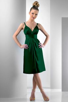 Bridesmaid ideas. Hunter green.