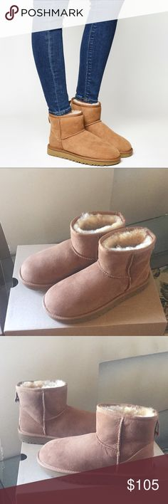 NEW UGG CLASSIC MINI II. CHESTNUT Water Resistant The Classic Mini II is now water resistant and stain resistant. UGGpure™ lining and footbed keep feet feeling breathable and dry. UGG Shoes Ankle Boots & Booties