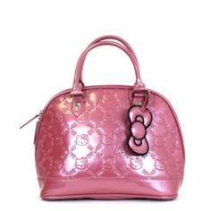 Hello Kitty Mauvewood Patent Embossed Tote Bag  --subtle and awesome at the  same time! 7c449ba2343e3