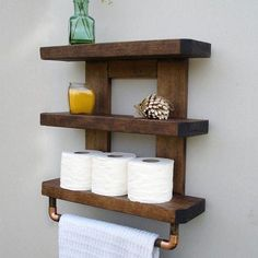 3 Miraculous Clever Hacks: Rustic Floating Shelves How To Build floating shelf diy bathroom.How To Build Floating Shelves Bookcases floating shelves styling fixer upper.Floating Shelf With Drawer Side Tables. Rustic Bathroom Shelves, Bathroom Storage Shelves, Rustic Bathrooms, Bathroom Organisation, Rustic Shelves, Rustic Cabinets, Wooden Shelves, Baños Shabby Chic, Wooden Plugs