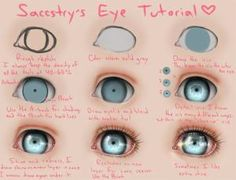 Nice way to draw creepy doll eyes.Heyyy, I made a tutorial, because so many asked me how I draw that glowing eyes all the time!Eye Tutorial: These eyes might be cute on repainted on Bratz dolls.Eye Tutorial by =Saccstry o Digital Painting Tutorials, Digital Art Tutorial, Art Tutorials, Drawing Tutorials, Digital Paintings, Eye Tutorial, Doll Tutorial, Doll Repaint Tutorial, Doll Eyes