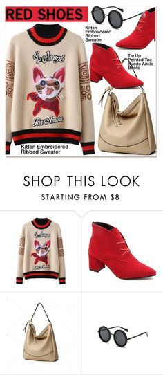 """Red boots"" by paculi ❤ liked on Polyvore featuring vintage"