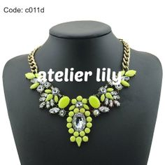 chunky statement necklace party short necklace Bib by AtelierLily, $9.99 (purchase with purchase)