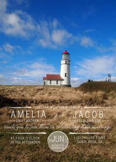 Lighthouse Wedding Invitations InkOVERpaper by inkOVERpaperInvites, $4.00