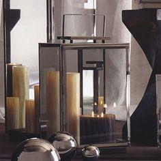 "Modern Nickel Mirror Lantern 12""square x 23.5""high. $Sale $109.99."