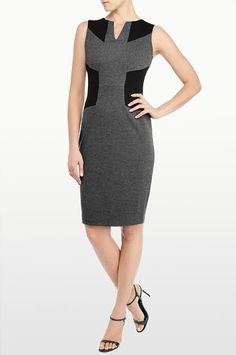 New for Fall is NYDJ's Dress Collection! Our Aubrey Chevron Double Knit Dress featuresa stylish chevronprint, with black color block accents in our beloved ponte fabricon the shoulders and waist for an optically slimming look. Plus, all of NYDJ's dresses feature the same exclusive Lift Tuck Technology® as our bottoms so you look and feel one size smaller.