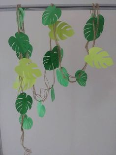 Garland 8 Feet Tropical Leaf Garland Safari Jungle Garland Store Window Decor Wedding Baby Shower Bridal Shower Decor Photo Prop Backdrop - Decoration World Safari Jungle, Deco Jungle, Safari Theme, Safari Party, Jungle Theme Classroom, Jungle Theme Birthday, Dinosaur Birthday Party, Classroom Themes, Hawaiian Party Decorations