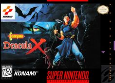 Castlevania: Dracula X SNES Box