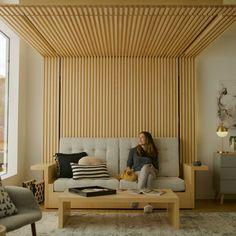 Ori Collection — Ori Living #modularfurniture #furniture Maximize Small Space, Small Space Living, Living Area, Small Spaces, Living Spaces, Modular Furniture, Home Furniture, Oak Trim, Compact Living